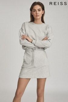 Reiss Grey Jetta Jersey Sweater Dress