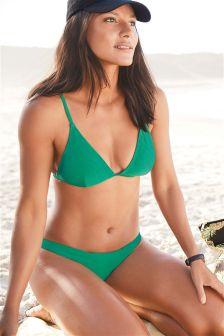 Texture Triangle Bikini Top