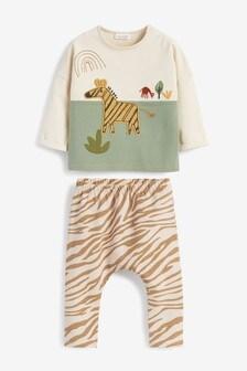 Zebra T-shirt And Legging Set (0mths-3yrs)