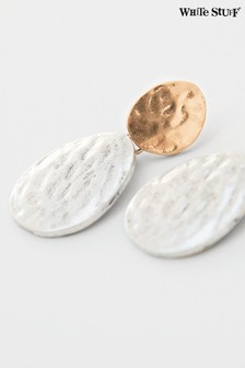 White Stuff Metallic Threaded Earrings
