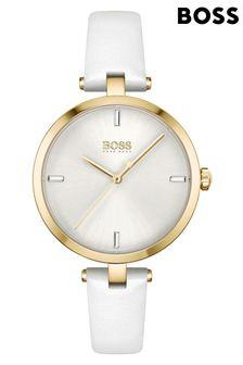 BOSS Majesty Leather Strap Watch