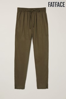 FatFace Green Perth Tapered Trousers