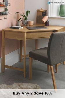 Bergen Oak Corner Desk by Bentley Designs