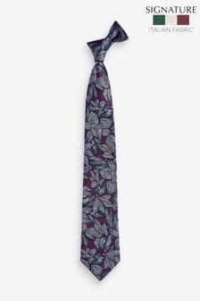 Leaf 'Made In Italy' Signature Silk Tie
