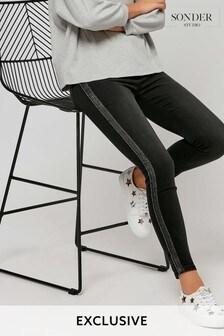 Sonder Black Sparkle Tipped Jeans