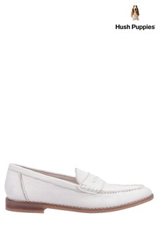 Hush Puppies Cream Wren Slip-On Loafers