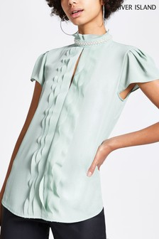 River Island Sage Darcy Pearl Blouse