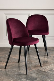 Set Of 2 Zola Dining Chairs