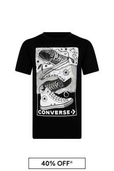 Converse Black Cotton T-Shirt