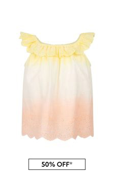 Bonpoint Girls Pink Cotton Blouse