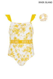 River Island Yellow Swimsuit