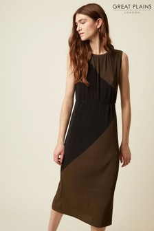 Great Plains Green Marnie Jersey Round Neck Dress
