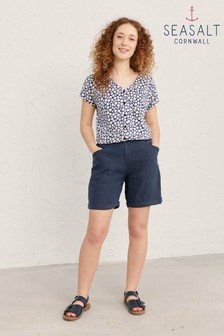 Seasalt Navy Waterline Penderleith Shorts