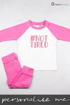 Personalised Hashtag Not Tired Pyjamas by Loveabode