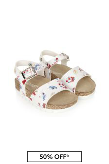 Monnalisa Girls White Sandals