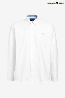 Raging Bull White Long Sleeve Signature Oxford Shirt