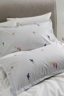 Набор из 2 наволочек с цветочным принтом в винтажном стиле