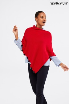 White Stuff Red Penelope Poncho