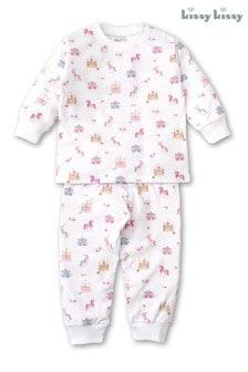 Kissy Kissy White Unicorn Castle Pyjama Set