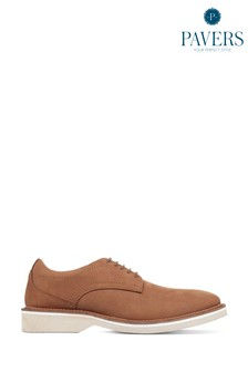 Pavers Tan Men's Lightweight Casual Derby Shoes