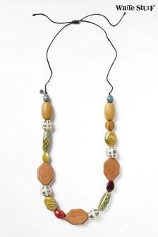 White Stuff Ines Ceramic Wood Necklace