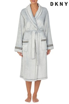 DKNY Fleece Long Dressing Gown