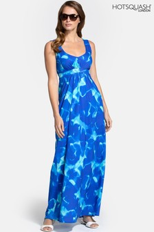 HotSquash Blue Empire Line Maxi Dress
