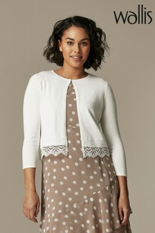 Wallis Ivory Lace Shrug