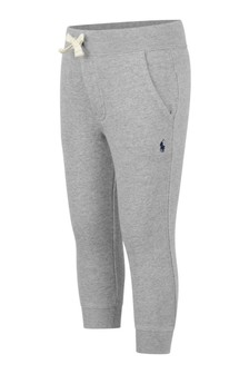 Boys Grey Cotton Joggers