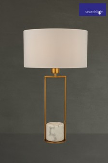 Elle Marble Base Table Lamp by Searchlight