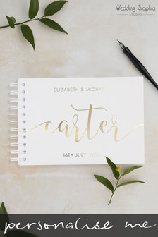 Personalised A4 Script Wedding Book by Wedding Graphics