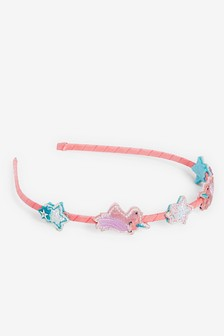 Unicorn Glitter & Star Ribbon Wrapped Headband