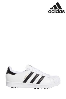 adidas Golf White/Black Superstar Trainers