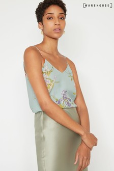 Warehouse Blue Iris Floral Cami Top