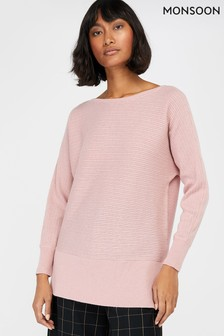 Monsoon Pink Dede Stitchy Jumper
