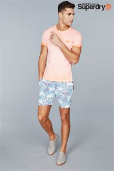 Superdry Blue Hibiscus Chambray Short