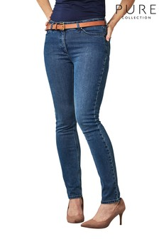 Pure Collection Blue Mowbray Slim Leg Jeans
