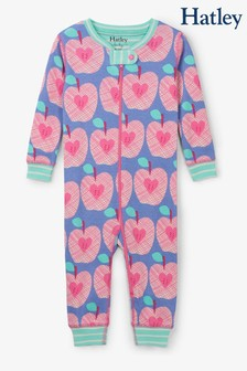 Hatley Blue Apple Orchard Organic Cotton Coverall Pyjamas