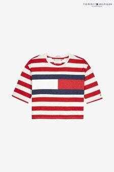 Tommy Hilfiger Cropped Stripe Flag T-Shirt