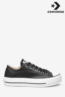 Converse Platform Lift Chuck Taylor Leather Ox Trainers