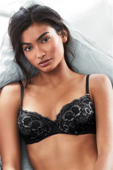 Lace Non Pad Wired Balcony Bra