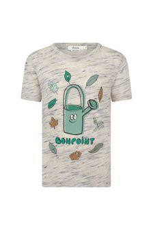 Bonpoint Boys Beige Cotton T-Shirt