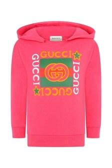 GUCCI Kids Cotton Vintage Logo Hoodie