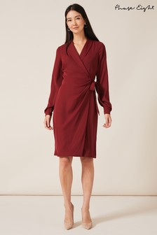 Phase Eight Red Briella Wrap Dress