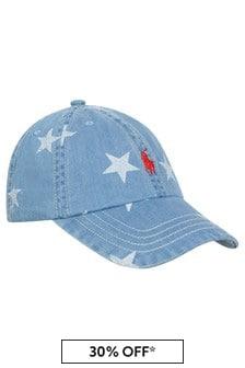 Boys Blue Denim Star Cap