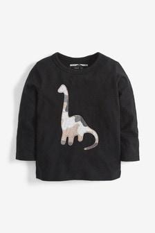 Футболка с длинным рукавом и камуфляжным принтом из динозавров (3 мес.-7 лет)