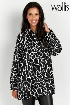 Wallis Black Animal Print Shirt