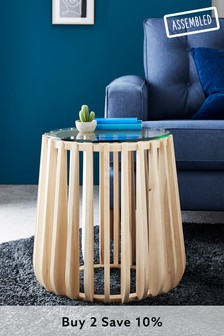 Ribbed Side Table