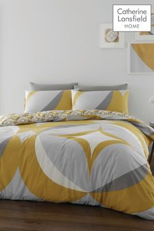 Catherine Lansfield Carston Geo Duvet Cover and Pillowcase Set