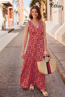 Boden Red Sienna Jersey Maxi Dress